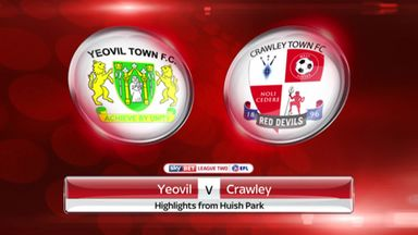 Yeovil 5-0 Crawley