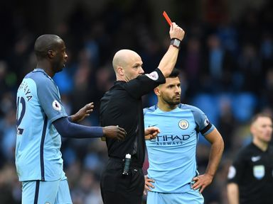Sergio Aguero: Ruled out by red card against Chelsea