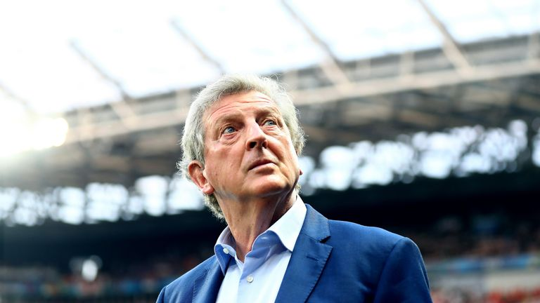 Roy Hodgson prior to the UEFA EURO 2016 round of 16 match against Iceland