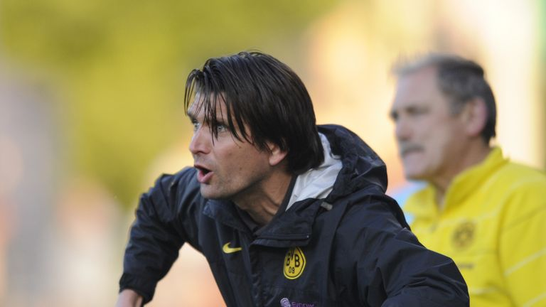 Hyballa in his Dortmund days coaching during the 2009 DFB juniors cup final