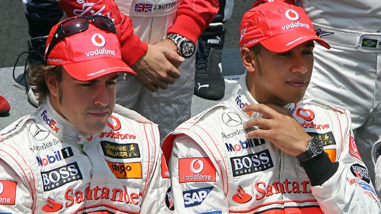The pressure was increasing on Alonso and Hamilton, with both world championship and 'Spygate' sagas rumbling on