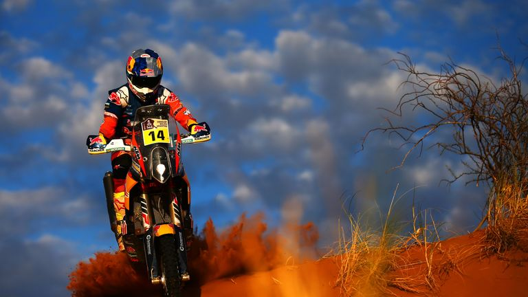 Dakar Rally: Sam Sunderland becomes first British rider to win famous race