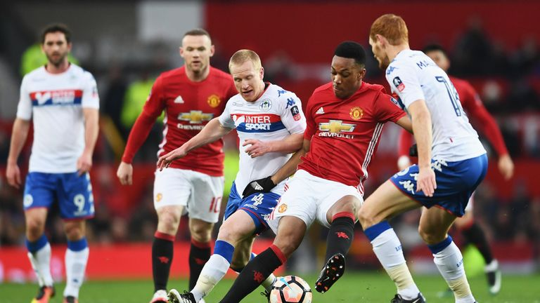 Anthony Martial provided two assists on his return to the Man Utd team
