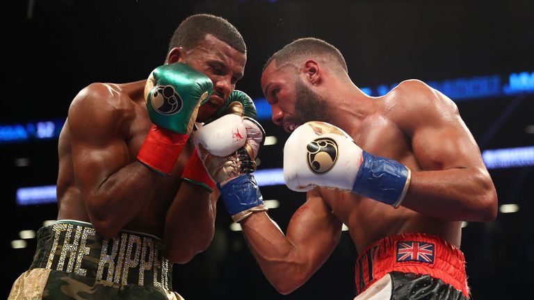 Referee Eats Big Left-Hand During James Degale/Badou Jack Bout