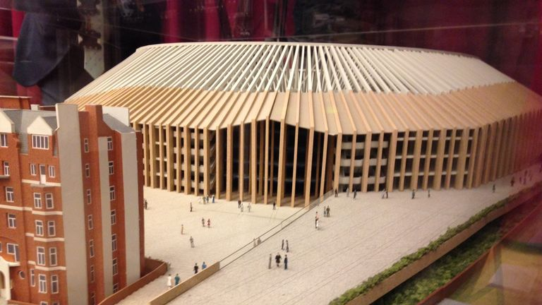 Chelsea presented a model of their proposed rebuild to the planning meeting