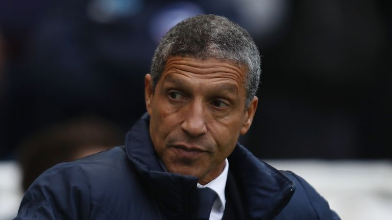 Brighton boss Chris Hughton was named England Athletics Coach of the Year