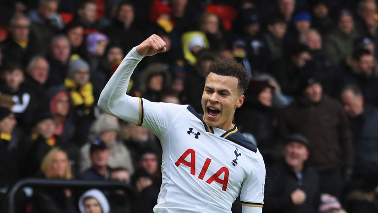 Dele Alli has netted two goals in each of his last three Premier League games