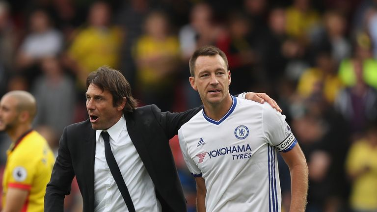 Terry has made just five Premier League appearances under Antonio Conte