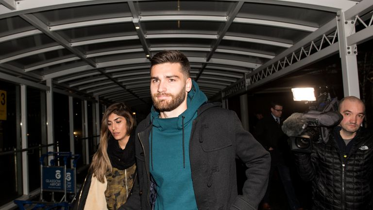 Jon Toral has arrived into Glasgow ahead of his Rangers loan move
