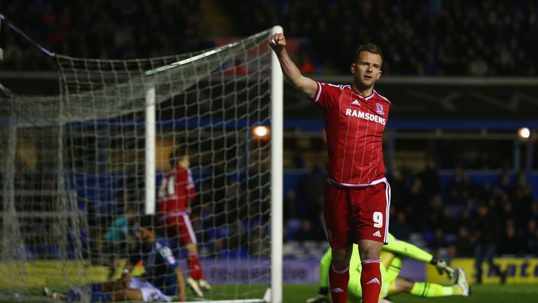 Jordan Rhodes left Middlesbrough in January