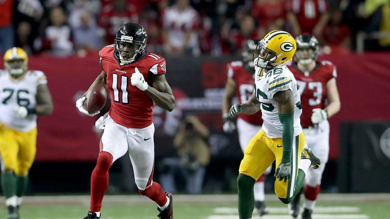 Julio Jones racked up the yards and had a couple of TDs the last time he played the Packers