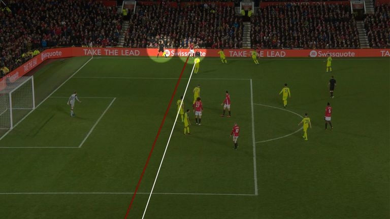 Antonio Valencia was technically offside, but the linesman couldn't see it