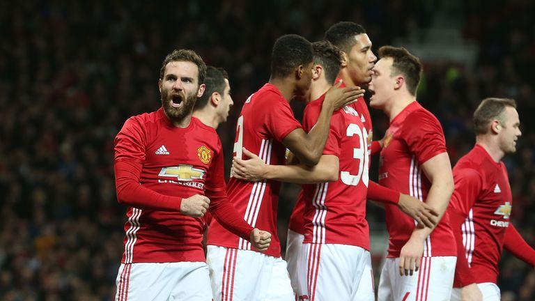 Juan Mata scored Manchester United's opening goal against Hull