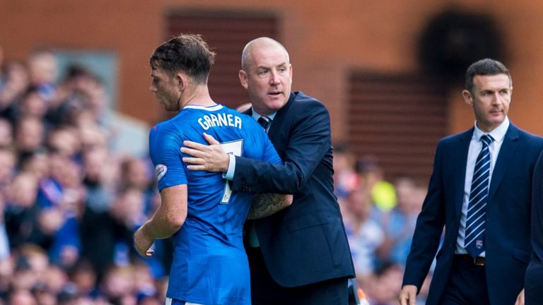 Rangers manager Mark Warburton is hoping for good news from Garner's scan
