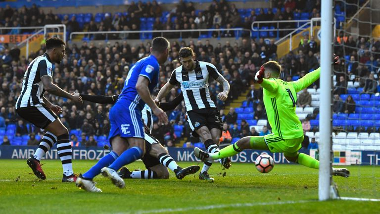 Daryl Murphy opened the scoring with his first Newcastle goal