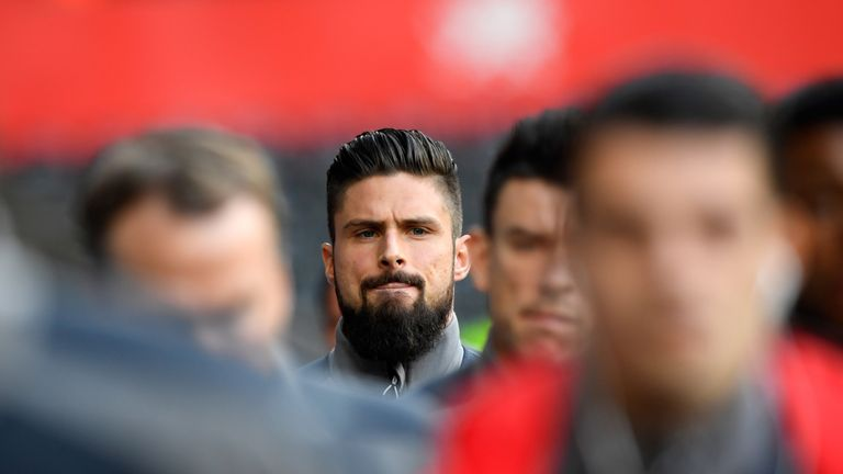 Giroud started 11 league games last season