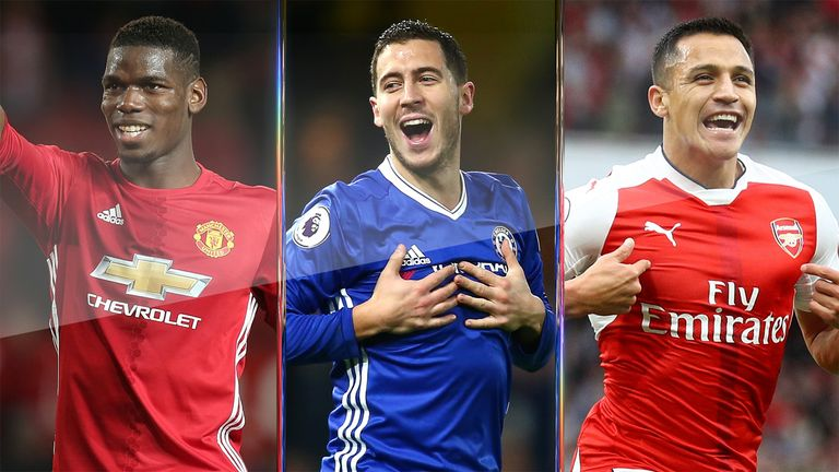 Paul Pogba, Eden Hazard and Alexis Sanchez are among the foreign stars