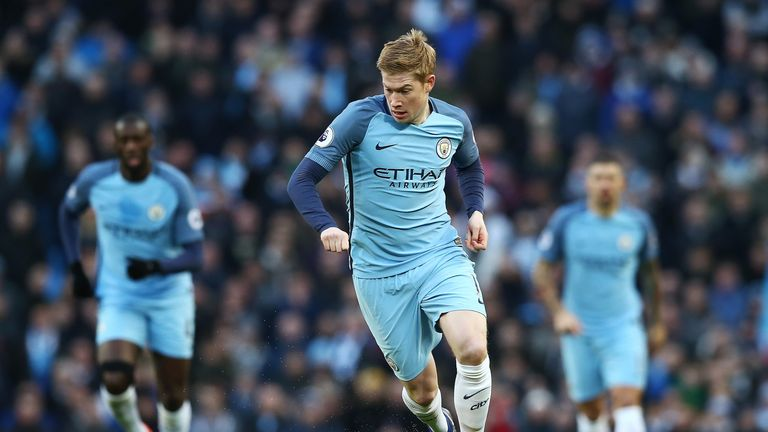 Kevin De Bruyne has registered a Premier League high nine assists so far this season