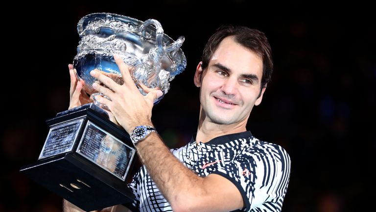 Federer won the Australian Open to land his 18th major title