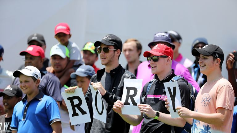 Fans have already been out around Glendower Golf where McIlroy is making his seasonal debut