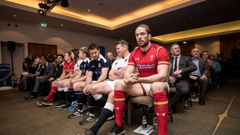 Wales captain Alun Wyn Jones at Wednesday's Six Nations launch in London