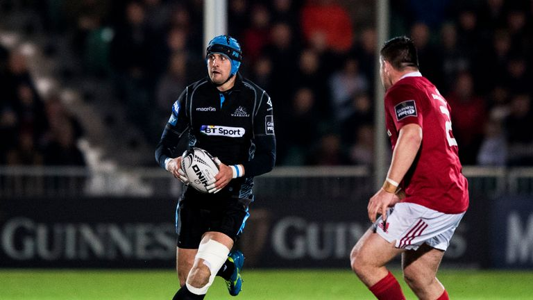 Peter Murchie started at full-back in Glasgow's PRO12 loss at home to Munster on December 2