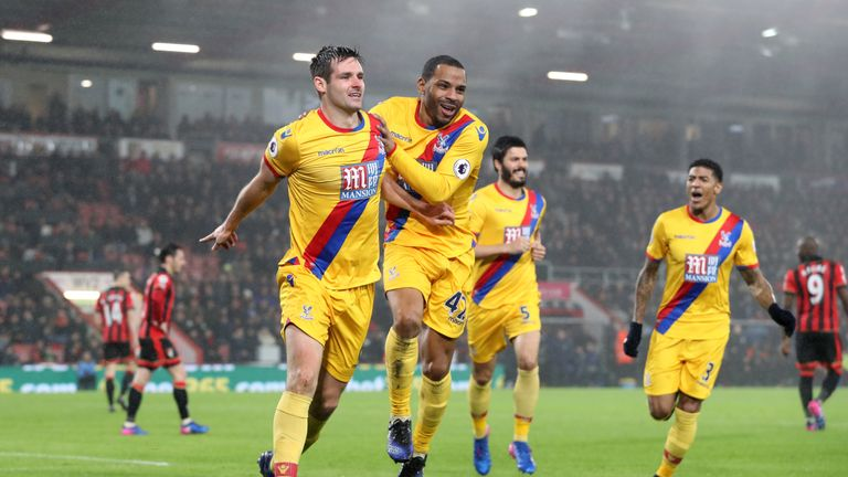 Scott Dann put Crystal Palace ahead shortly after half-time