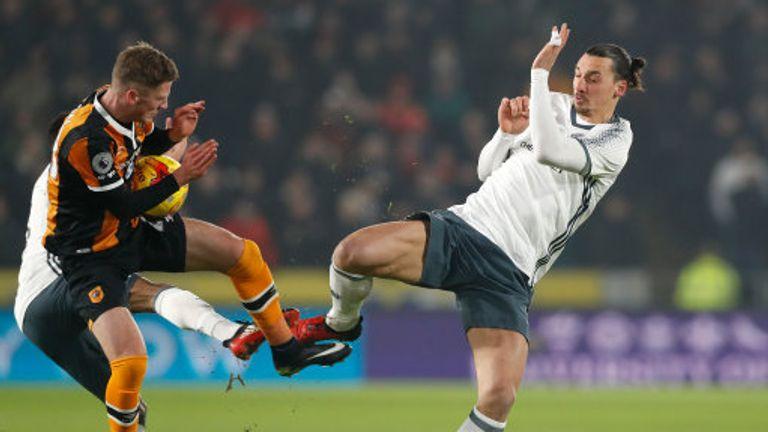 Zlatan Ibrahimovic challenges Hull's Josh Tymon