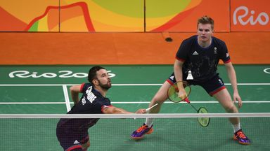 Marcus Ellis (R) and Chris Langridge won badminton bronze at Rio 2016