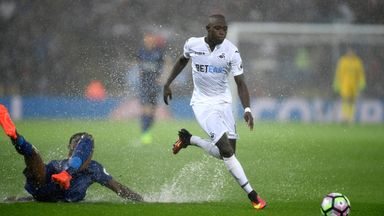 Modou Barrow has completed a loan switch to Leeds from Swansea
