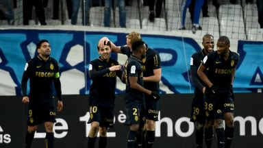 Monaco moved to the top of Ligue 1 after their 4-1 win at Marseille