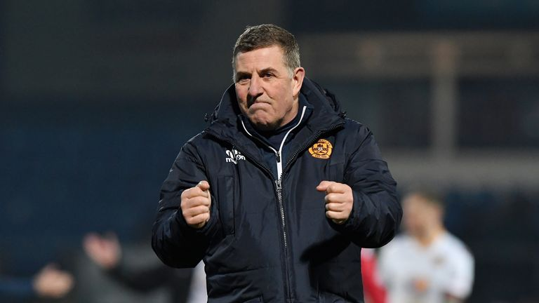 21/01/17 LADBROKES PREMIERSHIP     ROSS COUNTY v MOTHERWELL (1-2)    GLOBAL ENERGY STADIUM - DINGWALL     Motherwell manager Mark McGhee at full time