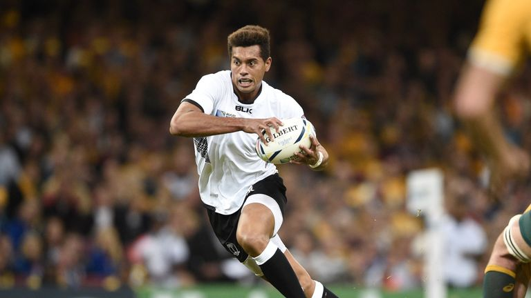 Melbourne Rebels fly-half Ben Volavola, pictured in action for Fiji at the 2015 Rugby World Cup