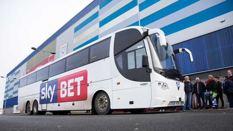 Sky Bet have provided free coach travel to Cardiff City fans