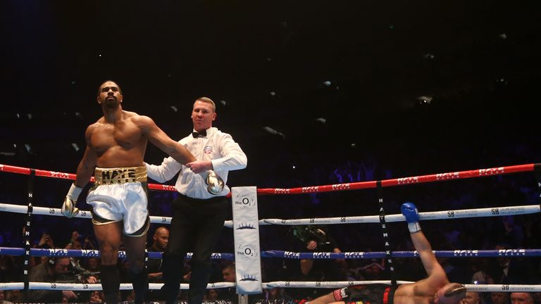 Haye blasted aside Mark de Mori within the first round on his return to boxing in January last year
