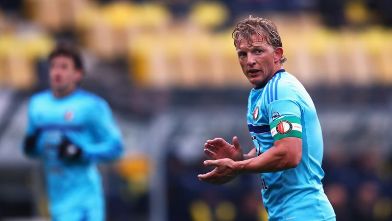 Dirk Kuyt came on as a substitute for Feyenoord but they could not salvage a point against Sparta Rotterdam