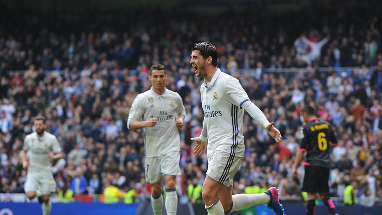 Alvaro Morata opened the scoring for Real Madrid at the weekend