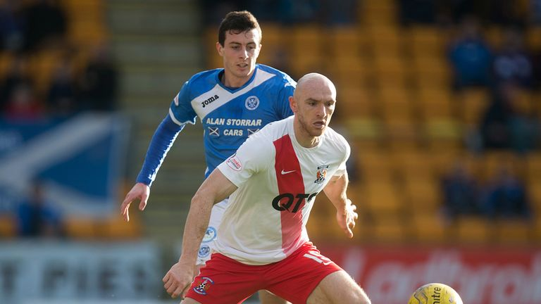 Conor Sammon in action for Kilmarnock