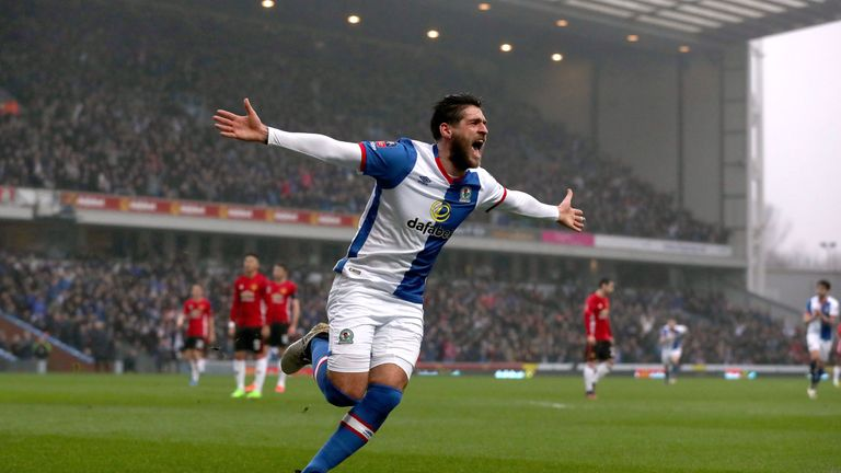 Blackburn Rovers' Danny Graham celebrates