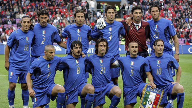 Pirlo, Cannavaro and Totti all played with Buffon in Italy's 2006 World Cup-winning side