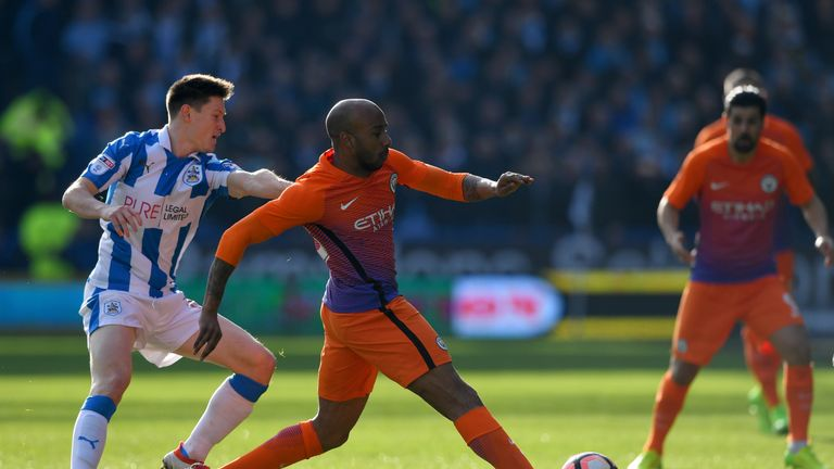 Joe Lolley puts pressure on Fabian Delph