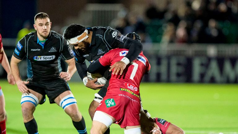 James Davies made 24 tackles against the Warriors at Scotstoun