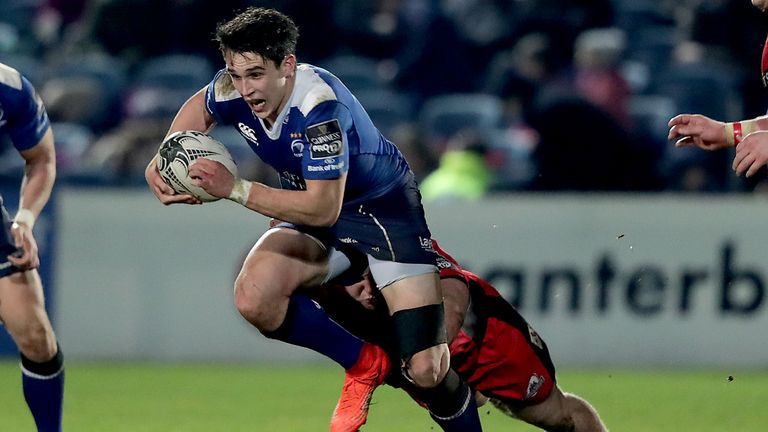 Joey Carbery wears Leinster's No 15 jersey for the second consecutive week