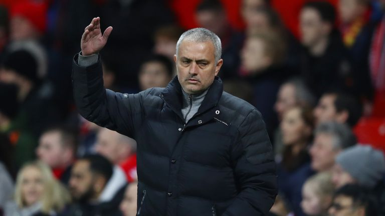 Jose Mourinho takes his side to Blackburn