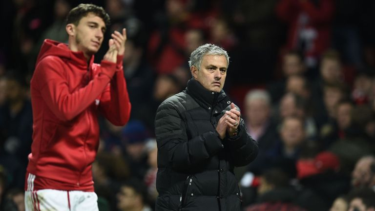Jose Mourinho (R) values the versatility of Italian defender Matteo Darmian (L)
