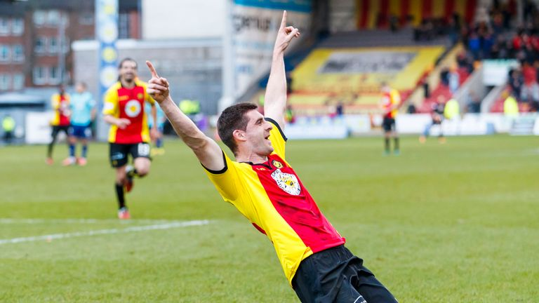 Kris Doolan's goal took his tally for the season into double figures