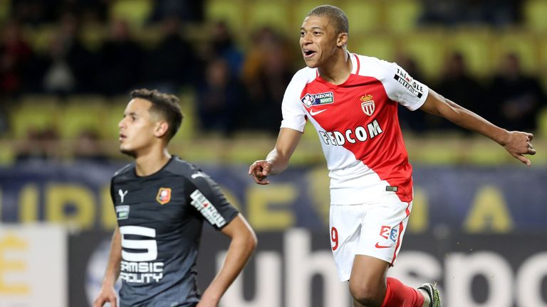 Monaco's French forward Kylian Mbappe is attracting attention from around Europe