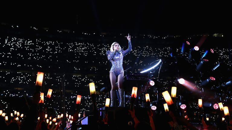 A worldwide audience of more than 100 million watched Lady Gaga perform the half-time show