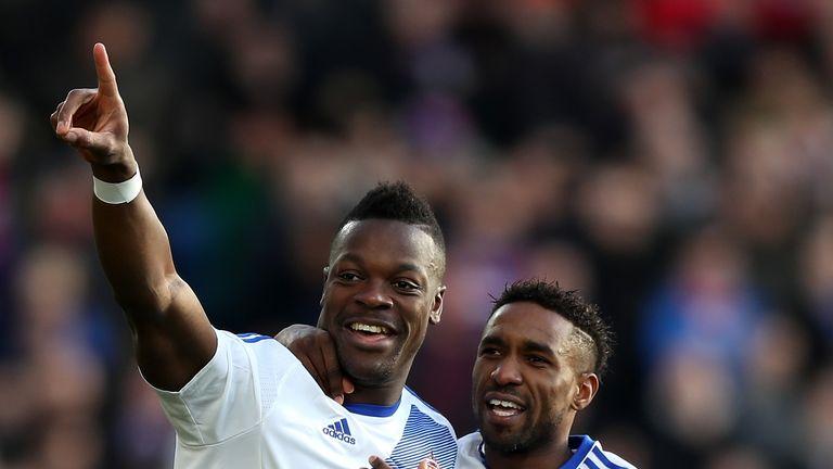 Lamine Kone and Jermain Defoe celebrate the opening goal