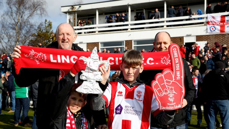 Lincoln supporters are looking forward to their trip to the Emirates Stadium